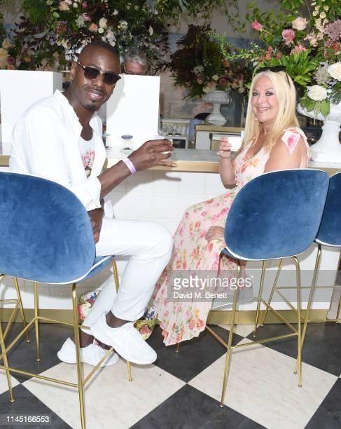 Ben Ofoedu and Vanessa Feltz attend the RHS Chelsea Flower Show 2019 press day on May 20 2019 in London England