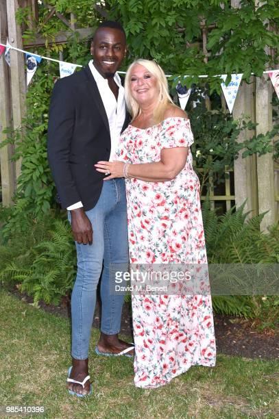 Ben Ofoedu and Vanessa Feltz attend the UK Premiere of Patrick in Belgrave Square Gardens on June 27 2018 in London England