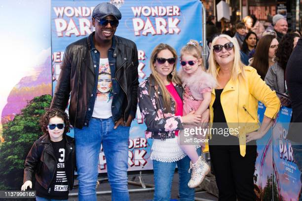 Ben Ofoedu and Vanessa Feltz attend the Wonder Park gala screening at Vue Leicester Square on March 24 2019 in London England