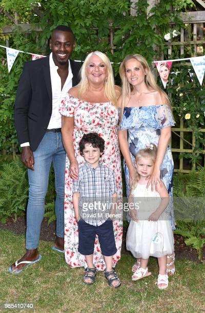 Ben Ofoedu Vanessa Feltz Allegra Kurer and family attend the UK Premiere of Patrick in Belgrave Square Gardens on June 27 2018 in London England