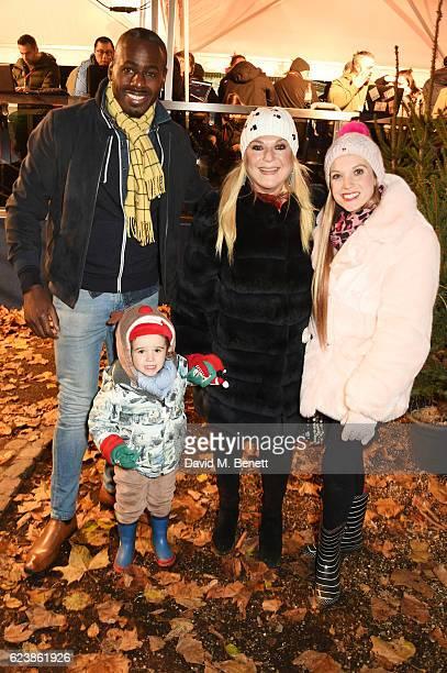 Ben Ofoedu Vanessa Feltz and Allegra Kurer attend a VIP Preview of Hyde Park's Winter Wonderland 2016 on November 17 2016 in London United Kingdom