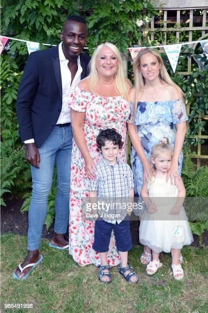Ben Ofoedu Vanessa Feltz and Allegra Kurer with her children Zeke and Neroli attend the UK premiere of 'Patrick' at an exclusive private London...
