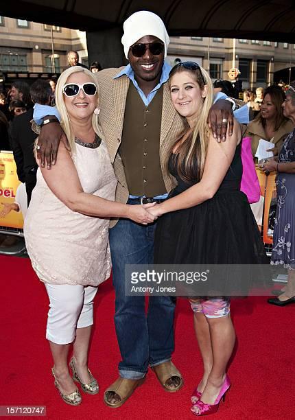 Ben Ofoedu Vanessa Feltz And Daughter Allegra Kurer Arrive At The Premiere Of Infidel Held At The Hammersmith Apollo In West London