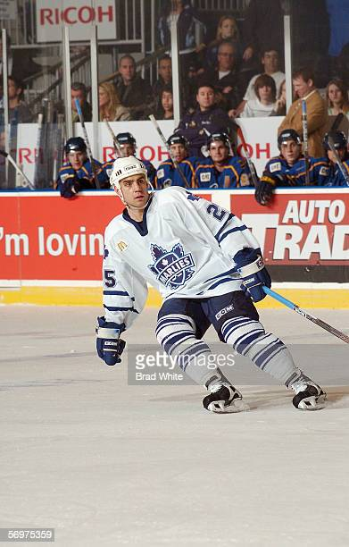 Ben Ondrus of the Toronto Marlies skates against the Peoria Rivermen at Ricoh Coliseum on February 3 2006 in Toronto Ontario Canada The Rivermen won...