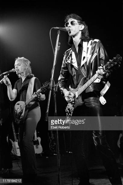 Ben Orr and Ric Ocasek performing with 'The Cars' at Beurs Theater in Brussels Belgium on November 17 1978
