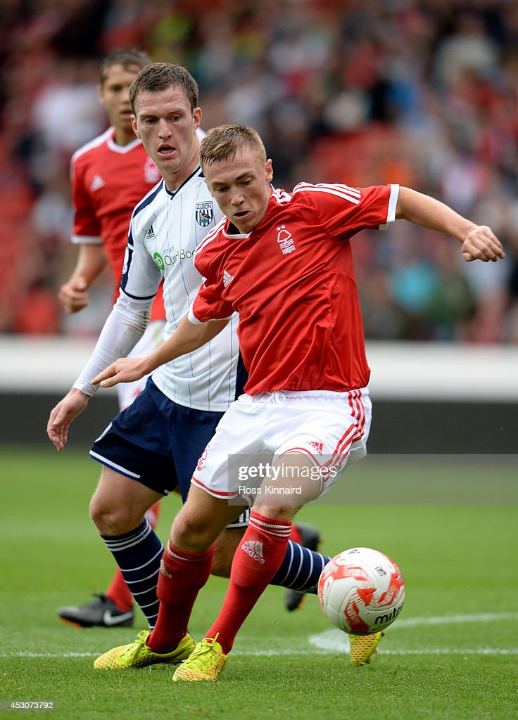 Ben Osborn of Nottingham Forest during the pre season friendly match between Nottingham Forest and West Bromwich Albion at the City Ground on August 2, 2014 in Nottingham, England.