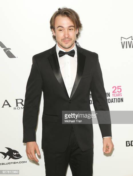 Ben O'Toole arrives to the 26th Annual Elton John AIDS Foundation's Academy Awards Viewing Party held at West Hollywood Park on March 4 2018 in West...