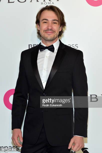 Ben O'Toole attends the 26th annual Elton John AIDS Foundation's Academy Awards Viewing Party at The City of West Hollywood Park on March 4 2018 in...