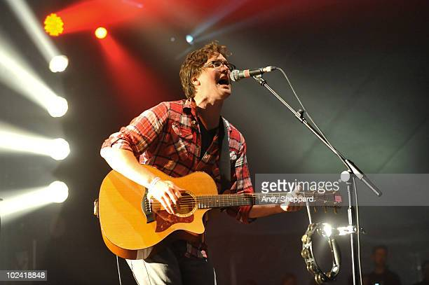 Ben Ottewell of English indie rock band Gomez performs on stage on the first day of Hard Rock Calling 2010 at Hyde Park on June 25, 2010 in London,...