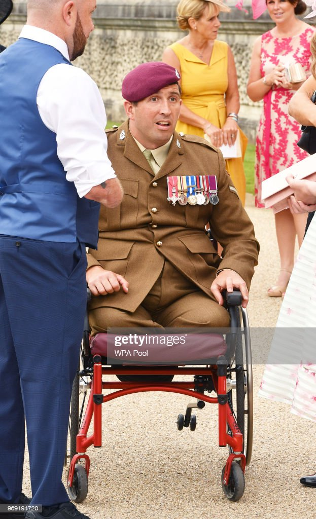 Ben Parkingson attends the Not Forgotten Association Annual Garden Party at Buckingham Palace on June 7, 2018 in London, England. The Not Forgotten Association is a national tri-service charity which provides entertainment, leisure and recreation for the serving wounded, injured or sick and for ex-service men and women with disabilities. Photo by John Stillwell - WPA Pool/Getty Images)