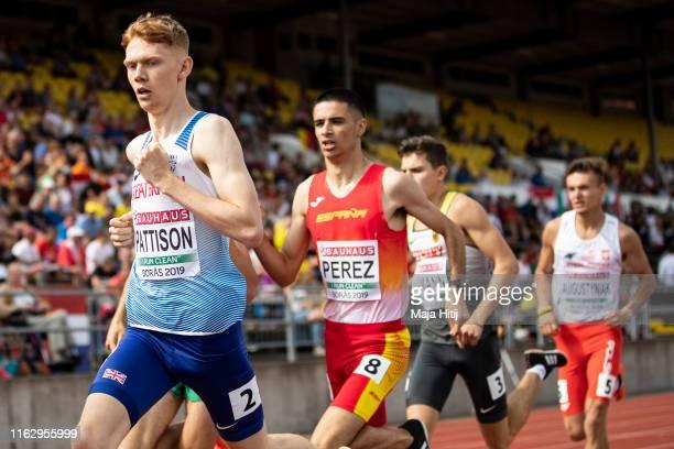 Ben Pattison of Great Britain & Northern Ireland competes during 800m Men Round 1 heat 1 on July 19, 2019 in Boras, Sweden.