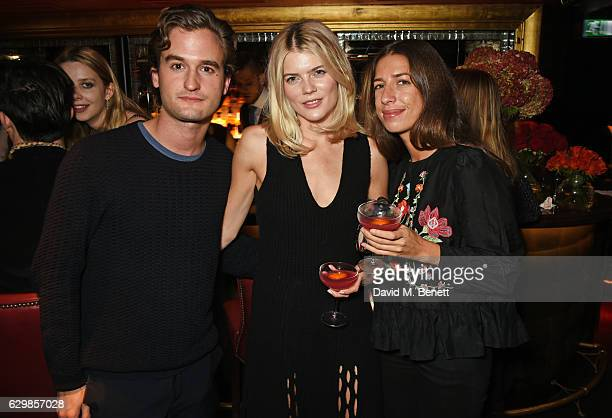 Ben Pawson Emma Greenwell and Sophie Peskin attend a reception in honour of 'La La Land' with Damien Chazelle Emma Stone and Justin Hurwitz at The...