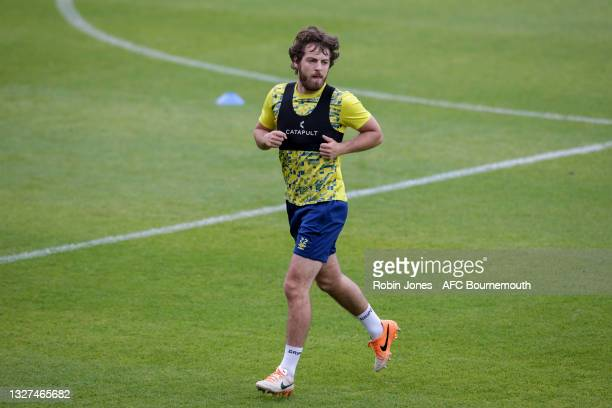 Ben Pearson of Bournemouth during a pre-season training session at Vitality Stadium on July 07, 2021 in Bournemouth, England.