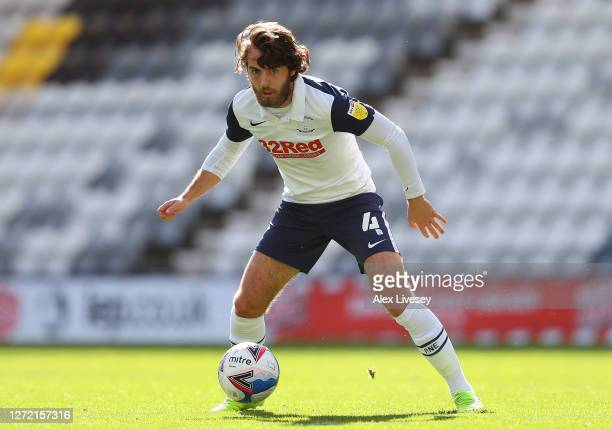 Ben Pearson of Preston North End during the Sky Bet Championship match between Preston North End and Swansea City at Deepdale on September 12 2020 in...