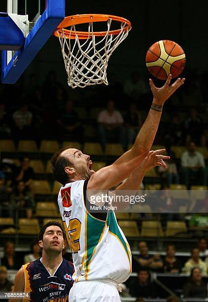 Ben Pepper of Townsville shoots to score during the round one NBL match between the West Sydney Razorbacks and the Townsville Crocodiles at the...