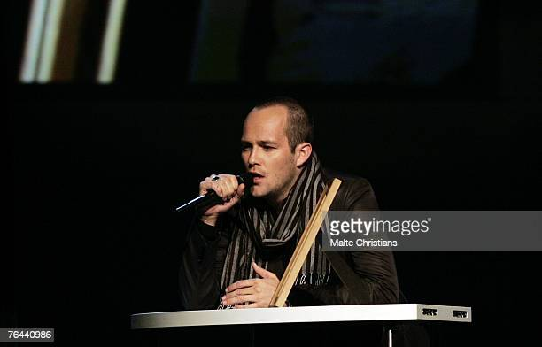 Ben performs during The Dome 43 music show at the Color Line Arena on August 31 2007 in Hamburg Germany