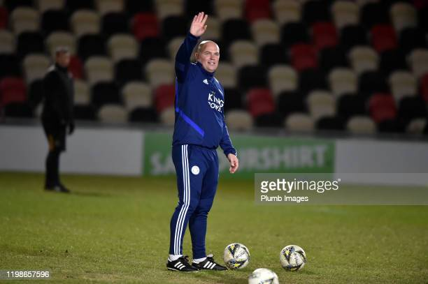 Ben Petty of Leicester City before the Leasingcom quarter final match between Newport County and Leicester City U21 at Rodney Parade on February 04...