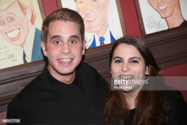 Ben Platt and best friend Beanie Feldstein pose as Ben Platt gets honored for his performance in his broadway show 'Dear Evan Hansen' wth a...
