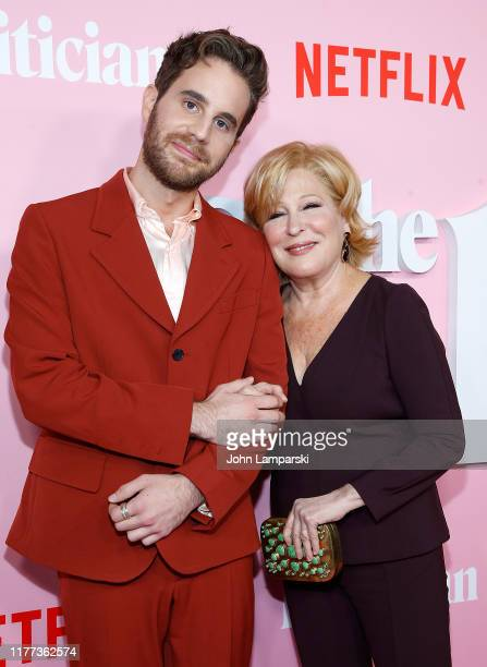 """Ben Platt and Bette Midler attend """"The Politician"""" New York Premiere at DGA Theater on September 26, 2019 in New York City."""