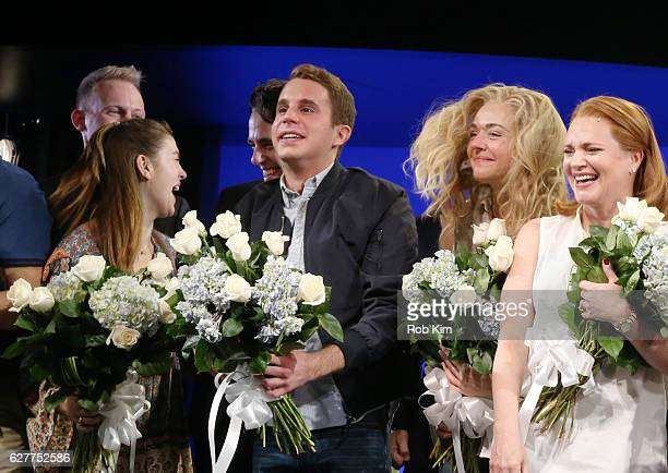 Ben Platt and cast members attend curtain call during 'Dear Evan Hansen' Broadway Opening Night at Music Box Theatre on December 4 2016 in New York...