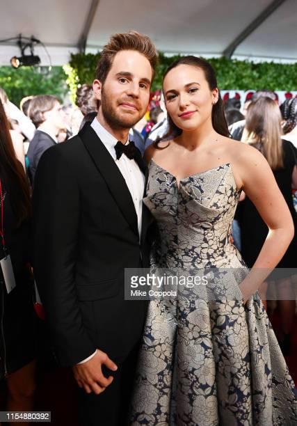Ben Platt and Francesca Carpanini attend the 73rd Annual Tony Awards at Radio City Music Hall on June 09 2019 in New York City