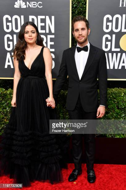 Ben Platt and guest attend the 77th Annual Golden Globe Awards at The Beverly Hilton Hotel on January 05, 2020 in Beverly Hills, California.