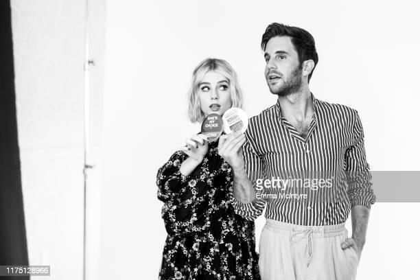 "Ben Platt and Lucy Boynton attend the press day for season 1 of Netflix's ""The Politician"" on June 11, 2019 in Santa Barbara, California."