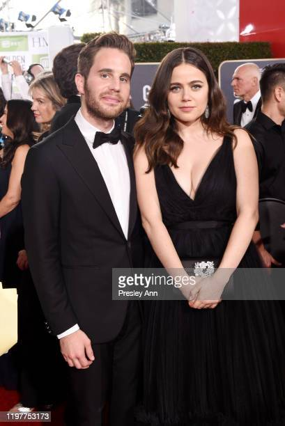 Ben Platt and Molly Gordon attend the 77th Annual Golden Globe Awards sponsored by Icelandic Glacial on January 5 2020 at the Beverly Hilton in Los...
