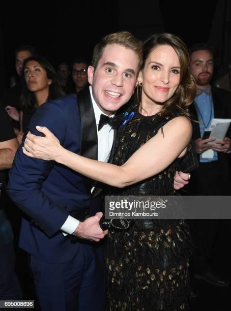 Ben Platt and Tina Fey attend the 2017 Tony Awards at Radio City Music Hall on June 11 2017 in New York City
