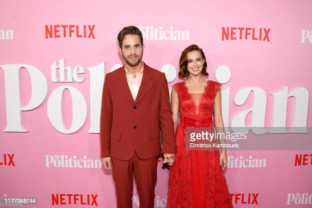 Ben Platt and Zoey Deutch attend Netflix's The Politician Season One Premiere at DGA Theater on September 26 2019 in New York City