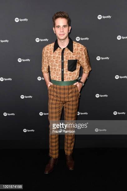 Ben Platt attends Spotify Hosts Best New Artist Party at The Lot Studios on January 23 2020 in Los Angeles California