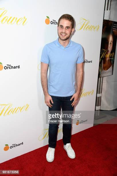 Ben Platt attends the premiere of The Orchard's 'Flower' at ArcLight Cinemas on March 13 2018 in Hollywood California