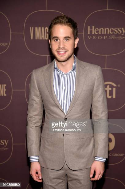 Ben Platt attends the Warner Music Group PreGrammy Party in association with V Magazine on January 25 2018 in New York City