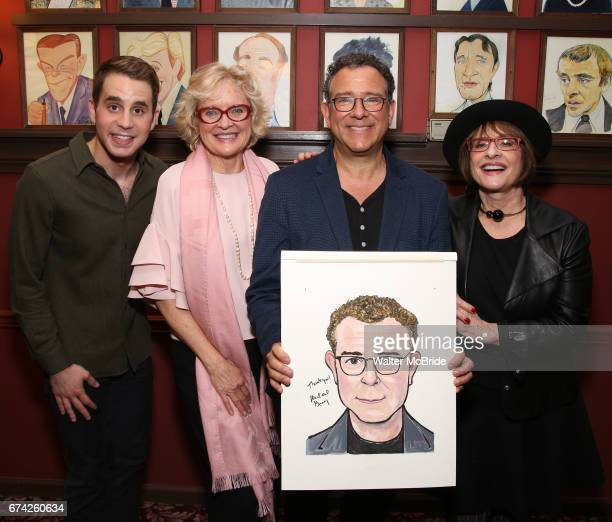 Ben Platt Christine Ebersole Michael Grief and Patti Lupone attend the Michael Grief Sardi's Portrait Unveiling at Sardi's on 4/27/2017 in New York...