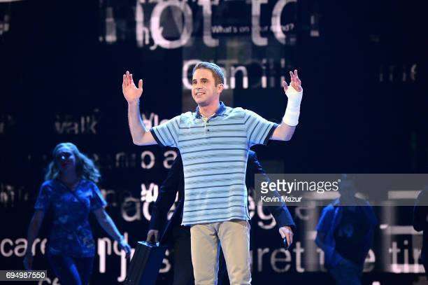 Ben Platt performs onstage during the 2017 Tony Awards at Radio City Music Hall on June 11 2017 in New York City