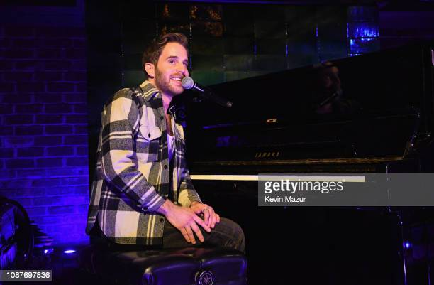Ben Platt performs onstage during the Ben Platt Atlantic Records Album Listening Party at The Bowery Hotel on January 23 2019 in New York City