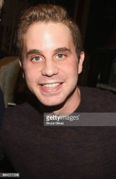 Ben Platt poses backstage at the hit musical 'Come From Away' on Broadway at The Schoenfeld Theater on December 16 2017 in New York City
