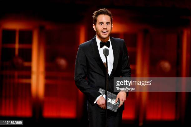 Ben Platt presents an award onstage during the 2019 Tony Awards at Radio City Music Hall on June 9 2019 in New York City