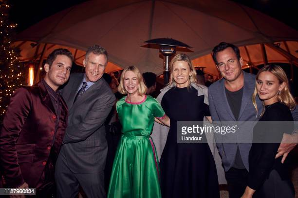 Ben Platt, Will Ferrell, January Jones, Viveca Paulin, Will Arnett and Alessandra Brawn attend Celebrate the Season: Ted's Holiday Toast at Private...