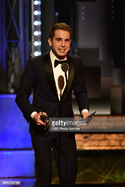 Ben Platt winner Best Performance by an Actor in a Leading Role in a Musical for Dear Evan Hansen at THE 71st ANNUAL TONY AWARDS broadcast live from...