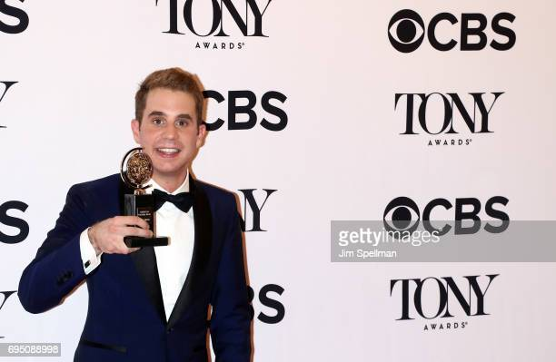 Ben Platt winner of the award for Best Actor in a Musical for 'Dear Evan Hanson poses in the press room during the 2017 Tony Awards at 3 West Club on...