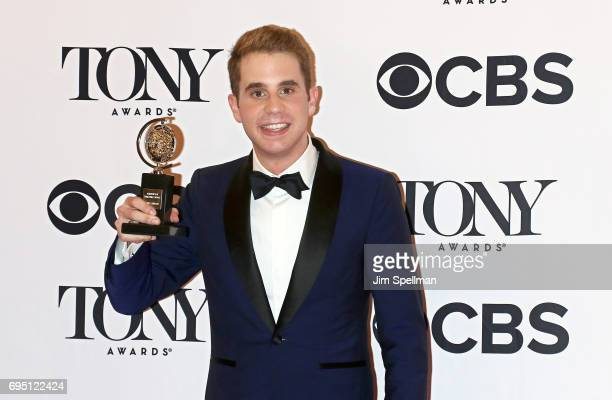 Ben Platt winner of the award for Best Actor in a Musical for 'Dear Evan Hansen poses in the press room during the 2017 Tony Awards at 3 West Club on...