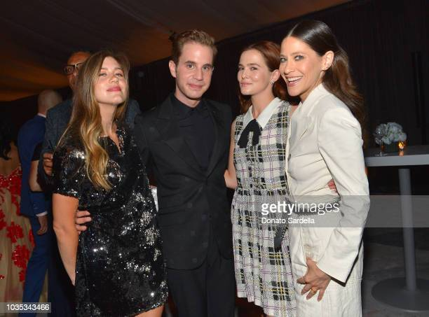 Ben Platt Zoey Deutch and Jackie Tohn attend the 2018 Netflix Primetime Emmys After Party at NeueHouse Hollywood on September 17 2018 in Los Angeles...