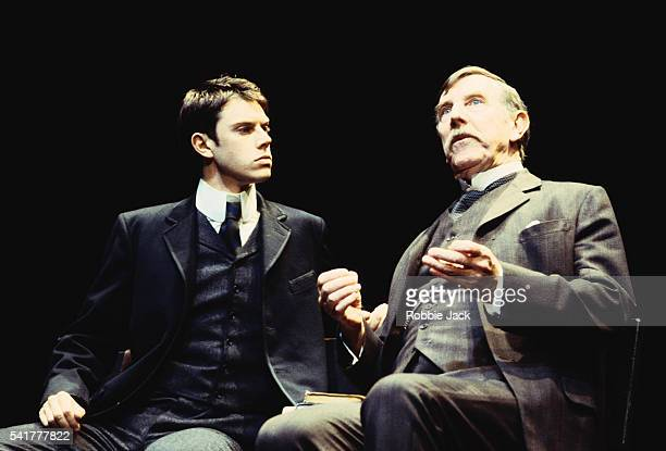 Ben Porter and John Wood in The Invention of Love at the Theatre Royal Haymarket by playwrightTom Stoppard