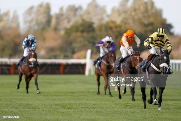 Ben Poste riding That's The Deal clear the last to win The 32Red Handicap Steeple Chase at Huntingdon racecourse on October 17 2017 in Huntingdon...