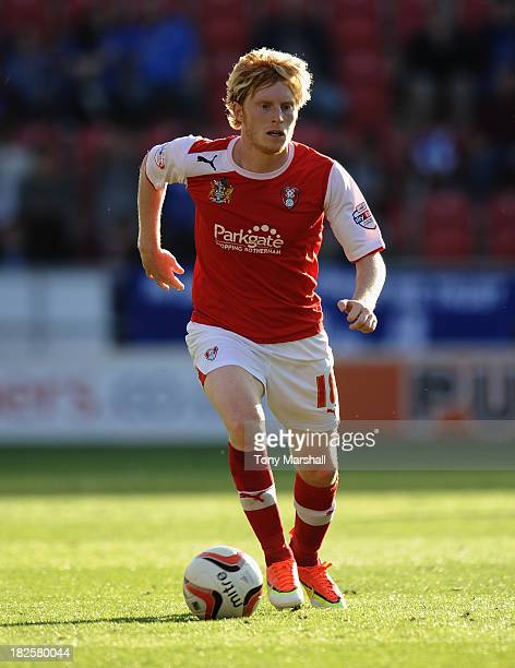 Ben Pringle of Rotherham United during the Sky Bet League One match between Rotherham United and Peterborough United at The New York Stadium on...