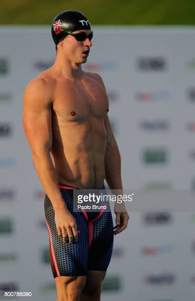 Ben Proud of Great Britain looks on before to compete in the Men's 50m butterfly final A during the 54th 'Sette Colli' international swimming trophy...
