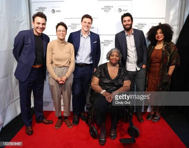 "Ben Proudfoot, Gabe Godol, Lusia Harris and Brandon Somerhalder attend the 2021 Tribeca Festival Premiere Shorts: ""Go Big"" at Hudson Yards on June..."