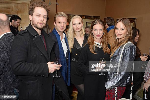 Ben Pugh Josh Varney Dioni Tabbers Lizzie Phillips and Katrine de Candole attend a drinks reception and private screening of BAFTA and Oscar...