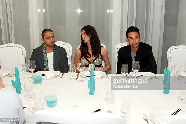 Ben Pundole Liliana Dominguez and Tenzin Wild attend COLLETTE Dinner Hosted by PHARRELL WILLIAMS at Asia de Cuba on December 6 2008 in New York City